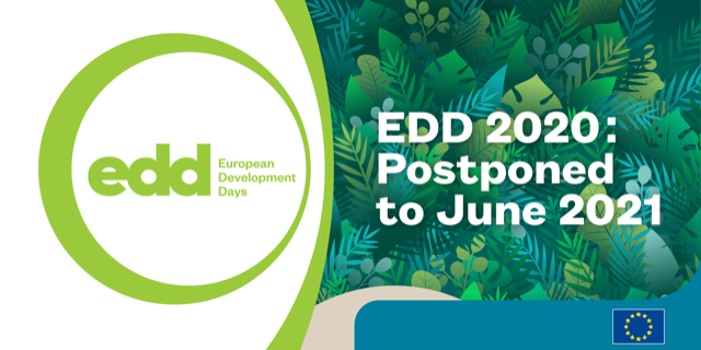 The 14th edition of the European Development Days is postponed to June 2021