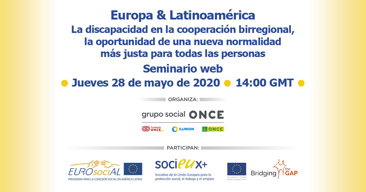 Webinar Experiences of European Programs that positively impact the rights of people with disabilities in Latin America